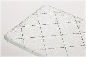 網入り型板ガラス(ヒシ)